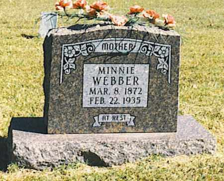 "WEBBER, NANCY ARMINDA ""MINNIE"" - Baxter County, Arkansas 