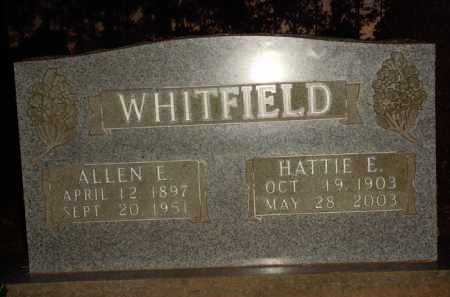 WHITFIELD, ALLEN E. - Baxter County, Arkansas | ALLEN E. WHITFIELD - Arkansas Gravestone Photos