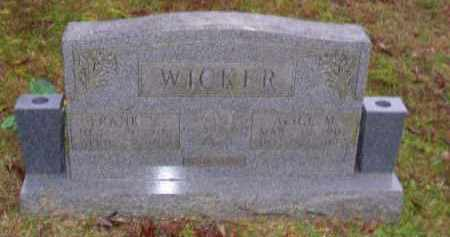 SHELDON WICKER, ALICE MARION - Baxter County, Arkansas | ALICE MARION SHELDON WICKER - Arkansas Gravestone Photos