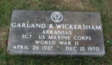 WICKERSHAM  (VETERAN WWII), GARLAND R - Baxter County, Arkansas | GARLAND R WICKERSHAM  (VETERAN WWII) - Arkansas Gravestone Photos