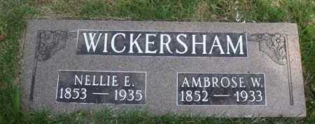 WICKERSHAM, AMBROSE W. - Baxter County, Arkansas | AMBROSE W. WICKERSHAM - Arkansas Gravestone Photos