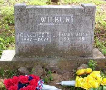 WILBUR, MARY ALICE - Baxter County, Arkansas | MARY ALICE WILBUR - Arkansas Gravestone Photos