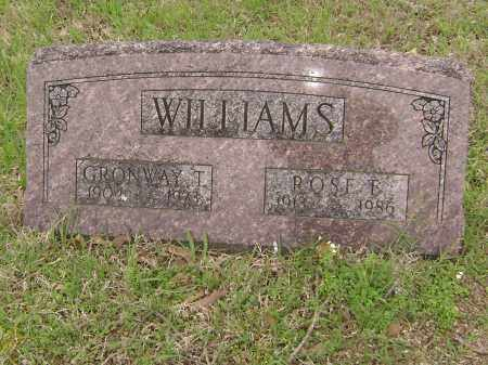 WILLIAMS, GRONWAY T, - Baxter County, Arkansas | GRONWAY T, WILLIAMS - Arkansas Gravestone Photos