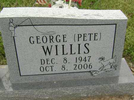 WILLIS, GEORGE 'PETE' - Baxter County, Arkansas | GEORGE 'PETE' WILLIS - Arkansas Gravestone Photos