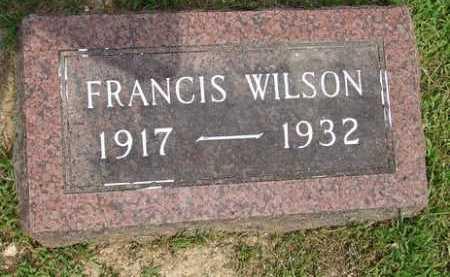 WILSON, FRANCIS - Baxter County, Arkansas   FRANCIS WILSON - Arkansas Gravestone Photos