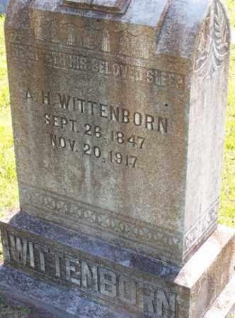 WITTENBORN, A .H. - Baxter County, Arkansas | A .H. WITTENBORN - Arkansas Gravestone Photos