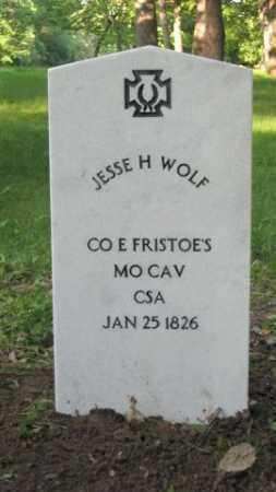 WOLF (VETERAN CSA), JESSE H - Baxter County, Arkansas | JESSE H WOLF (VETERAN CSA) - Arkansas Gravestone Photos