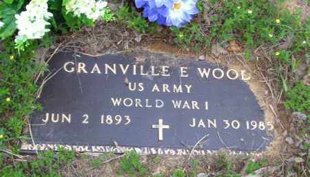 WOOD (VETERAN WWI), GRANVILLE E - Baxter County, Arkansas | GRANVILLE E WOOD (VETERAN WWI) - Arkansas Gravestone Photos