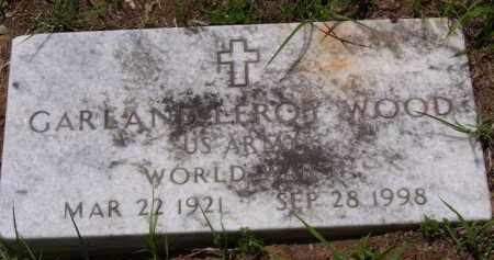 WOOD (VETERAN WWII), GARLAND LEROY - Baxter County, Arkansas | GARLAND LEROY WOOD (VETERAN WWII) - Arkansas Gravestone Photos