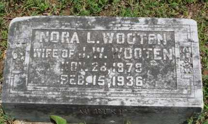 WOOTEN, NORA L. - Baxter County, Arkansas | NORA L. WOOTEN - Arkansas Gravestone Photos