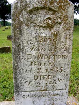 SELPH WOOTON, ELIZABETH - Baxter County, Arkansas | ELIZABETH SELPH WOOTON - Arkansas Gravestone Photos
