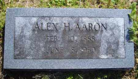 AARON, ALEX H. - Benton County, Arkansas | ALEX H. AARON - Arkansas Gravestone Photos
