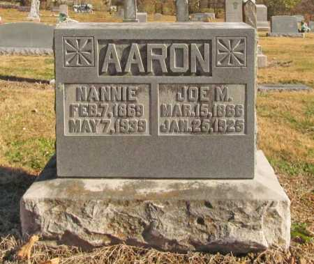 AARON, JOE W. - Benton County, Arkansas | JOE W. AARON - Arkansas Gravestone Photos