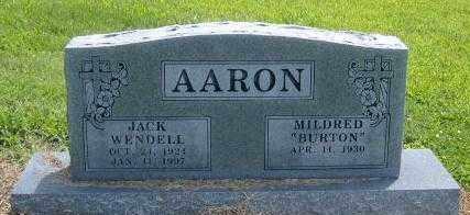 AARON, JACK WENDELL - Benton County, Arkansas | JACK WENDELL AARON - Arkansas Gravestone Photos
