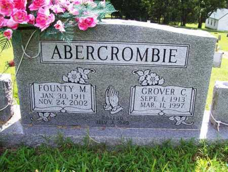 ABERCROMBIE, FOUNTY M. - Benton County, Arkansas | FOUNTY M. ABERCROMBIE - Arkansas Gravestone Photos