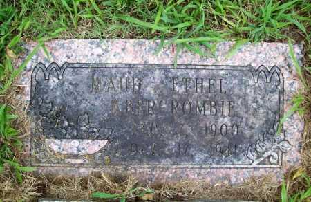 ABERCROMBIE, MAUD ETHEL - Benton County, Arkansas | MAUD ETHEL ABERCROMBIE - Arkansas Gravestone Photos