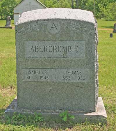ABERCROMBIE, THOMAS - Benton County, Arkansas | THOMAS ABERCROMBIE - Arkansas Gravestone Photos