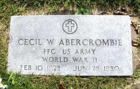 ABERCROMBIE (VETERAN WWII), CECIL W. - Benton County, Arkansas | CECIL W. ABERCROMBIE (VETERAN WWII) - Arkansas Gravestone Photos