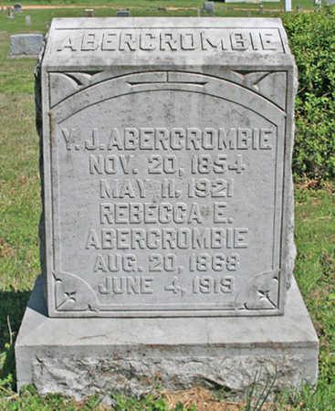 ABERCROMBIE, REBECCA ELIZABETH - Benton County, Arkansas | REBECCA ELIZABETH ABERCROMBIE - Arkansas Gravestone Photos