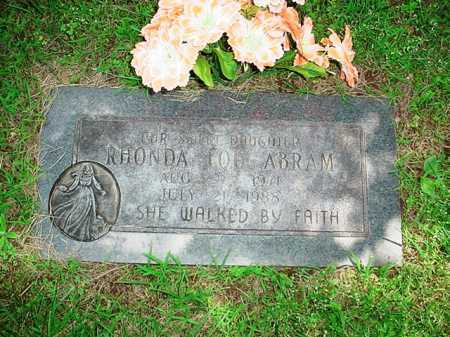 ABRAM, RHONDA LOU - Benton County, Arkansas | RHONDA LOU ABRAM - Arkansas Gravestone Photos