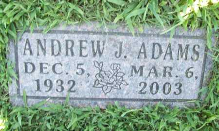ADAMS, ANDREW J. - Benton County, Arkansas | ANDREW J. ADAMS - Arkansas Gravestone Photos