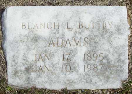 BUTTRY ADAMS, BLANCH L - Benton County, Arkansas | BLANCH L BUTTRY ADAMS - Arkansas Gravestone Photos