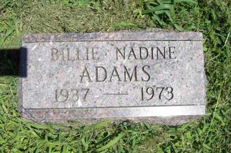 ADAMS, BILLIE NADINE - Benton County, Arkansas | BILLIE NADINE ADAMS - Arkansas Gravestone Photos