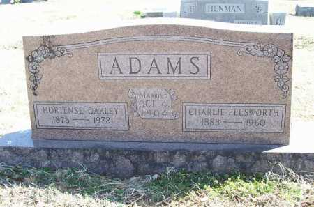 OAKLEY ADAMS, HORTENSE - Benton County, Arkansas | HORTENSE OAKLEY ADAMS - Arkansas Gravestone Photos