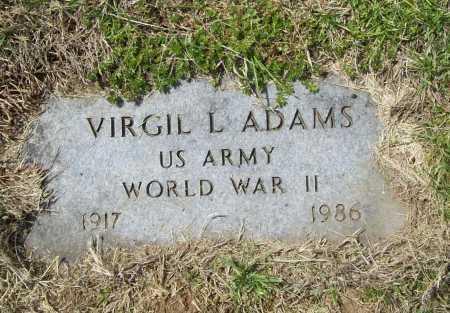 ADAMS (VETERAN WWII), VIRGIL LEE - Benton County, Arkansas | VIRGIL LEE ADAMS (VETERAN WWII) - Arkansas Gravestone Photos