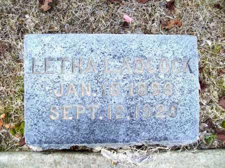 ADCOCK, LETHA L. - Benton County, Arkansas | LETHA L. ADCOCK - Arkansas Gravestone Photos