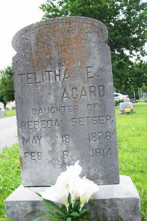 AGARD, TELITHA E. - Benton County, Arkansas | TELITHA E. AGARD - Arkansas Gravestone Photos
