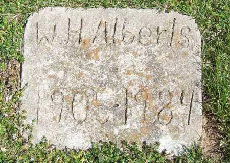ALBERTS, W. H. - Benton County, Arkansas | W. H. ALBERTS - Arkansas Gravestone Photos
