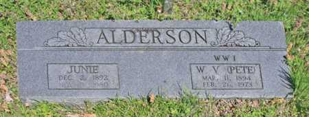 ALDERSON, JUNIE - Benton County, Arkansas | JUNIE ALDERSON - Arkansas Gravestone Photos