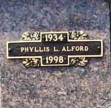 ALFORD, PHYLLIS L. - Benton County, Arkansas | PHYLLIS L. ALFORD - Arkansas Gravestone Photos