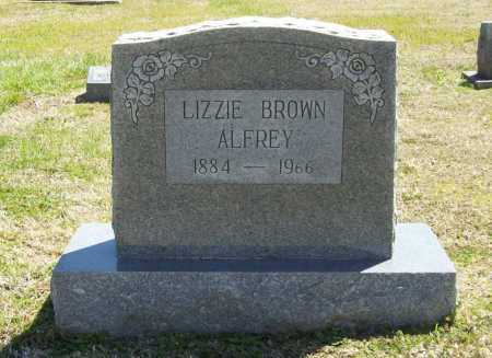 BROWN ALFREY, LIZZIE - Benton County, Arkansas | LIZZIE BROWN ALFREY - Arkansas Gravestone Photos