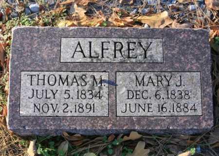 ALFREY, MARY J - Benton County, Arkansas | MARY J ALFREY - Arkansas Gravestone Photos