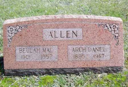 ALLEN, ARCH DANIEL - Benton County, Arkansas | ARCH DANIEL ALLEN - Arkansas Gravestone Photos