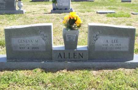 ALLEN, GENEVA M. - Benton County, Arkansas | GENEVA M. ALLEN - Arkansas Gravestone Photos
