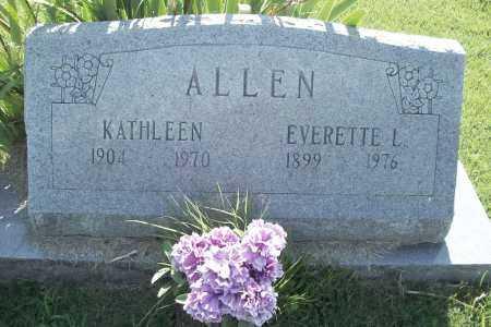 ALLEN, EVERETTE LEE - Benton County, Arkansas | EVERETTE LEE ALLEN - Arkansas Gravestone Photos