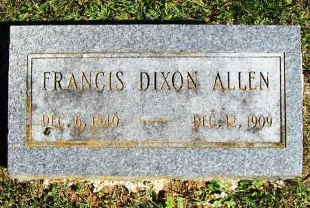 ALLEN, FRANCIS DIXON - Benton County, Arkansas | FRANCIS DIXON ALLEN - Arkansas Gravestone Photos