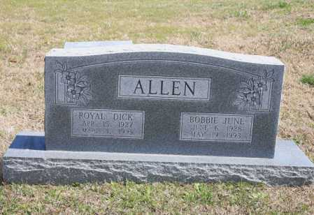 "ALLEN, ROYAL ""DICK"" - Benton County, Arkansas 