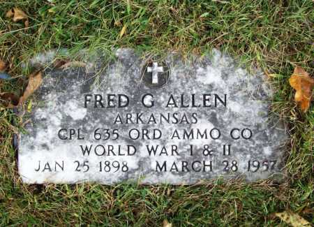 ALLEN (VETERAN 2 WARS), FRED G - Benton County, Arkansas | FRED G ALLEN (VETERAN 2 WARS) - Arkansas Gravestone Photos