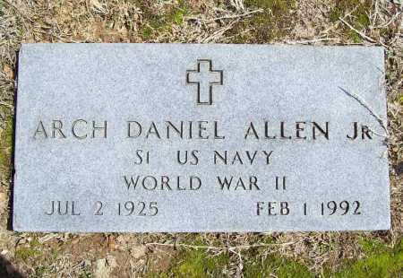 ALLEN, JR (VETERAN WWII), ARCH DANIEL - Benton County, Arkansas | ARCH DANIEL ALLEN, JR (VETERAN WWII) - Arkansas Gravestone Photos
