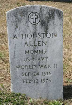 ALLEN (VETERAN WWII), A. HOUSTON - Benton County, Arkansas | A. HOUSTON ALLEN (VETERAN WWII) - Arkansas Gravestone Photos