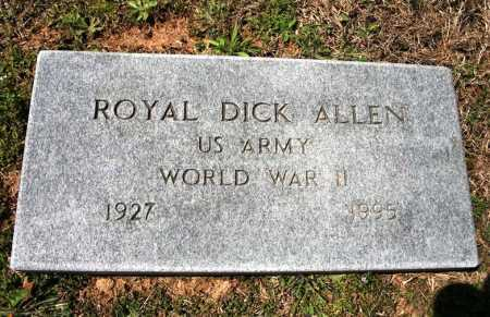 ALLEN (VETERAN WWII), ROYAL DICK - Benton County, Arkansas | ROYAL DICK ALLEN (VETERAN WWII) - Arkansas Gravestone Photos