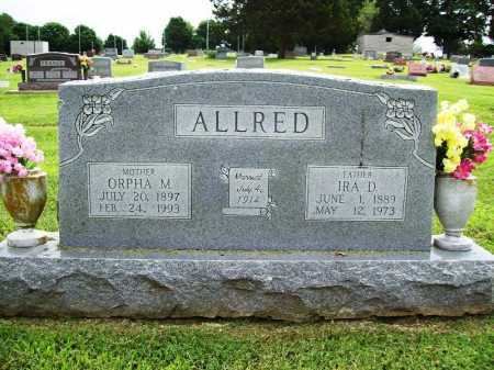 HOPPING ALLRED, ORPHA M. - Benton County, Arkansas | ORPHA M. HOPPING ALLRED - Arkansas Gravestone Photos