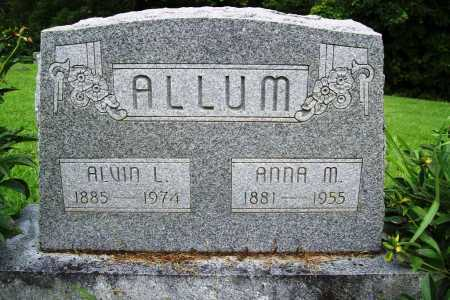 ALLUM, ANNA M. - Benton County, Arkansas | ANNA M. ALLUM - Arkansas Gravestone Photos