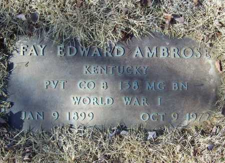 AMBROSE (VETERAN WWI), FAY EDWARD - Benton County, Arkansas | FAY EDWARD AMBROSE (VETERAN WWI) - Arkansas Gravestone Photos