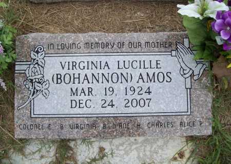 BOHANNON AMOS, VIRGINIA LUCILLE - Benton County, Arkansas | VIRGINIA LUCILLE BOHANNON AMOS - Arkansas Gravestone Photos