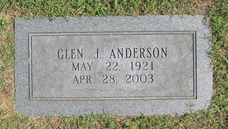 ANDERSON, GLEN J. - Benton County, Arkansas | GLEN J. ANDERSON - Arkansas Gravestone Photos